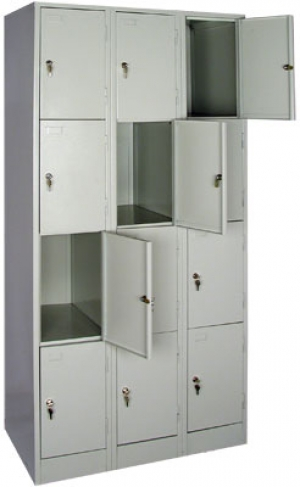 Шкаф металлический для сумок ШРМ - 312 купить на выгодных условиях в Рязани