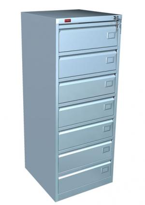 Шкаф металлический картотечный КР - 7 купить на выгодных условиях в Рязани