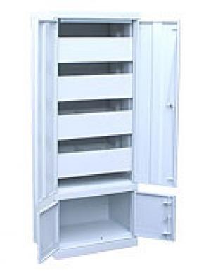Шкаф металлический картотечный ШК-4-Д4 купить на выгодных условиях в Рязани