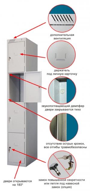 Шкаф металлический для сумок ШРС-14-300 купить на выгодных условиях в Рязани