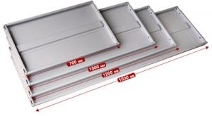 Полка усиленная 100\60 для металлического стеллажа купить на выгодных условиях в Рязани